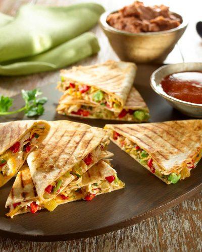 chicken-and-avocado-quesadillas